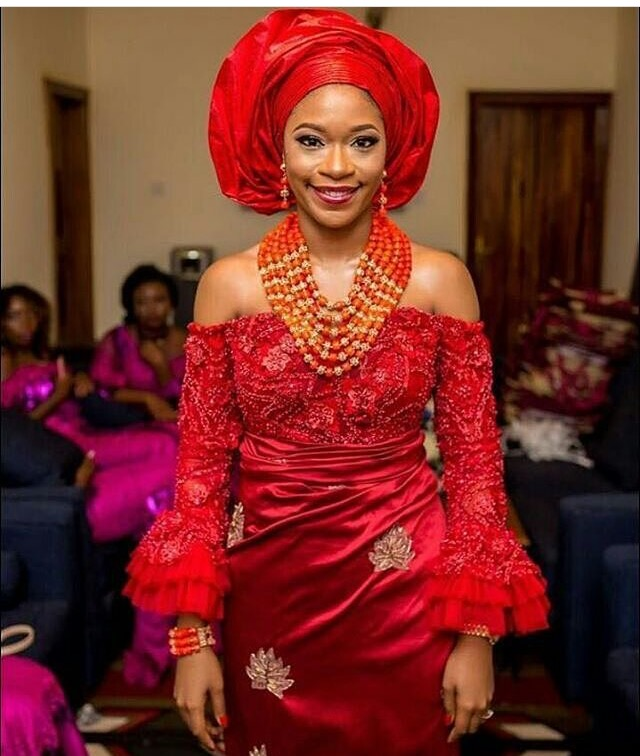 Gorgeous Igbo Traditional Bridal Outfit -The George