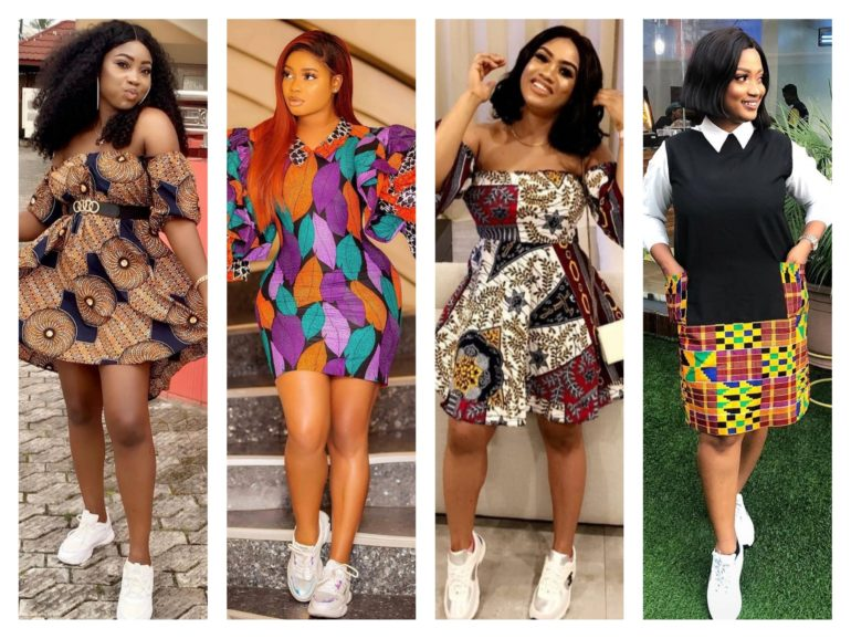 Wear Ankara Outfit With Sneakers